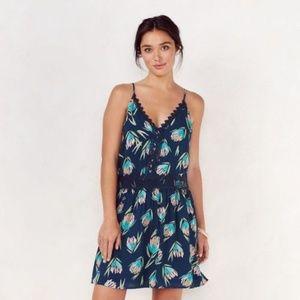Lauren Conrad Teal Crochet Lace Sun Dress M L XL